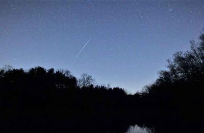 The Lyrid meteor shower can best be seen in the northern hemisphere on the weekend