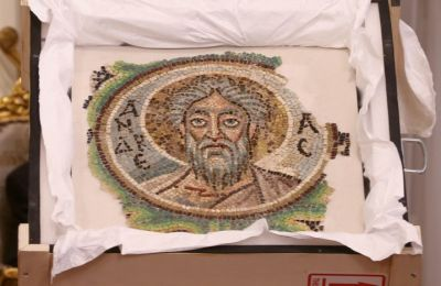 Rare 6th century mosaic depicting St. Andrew