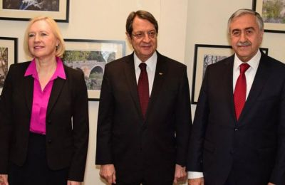 Cyprus Deputy Special Adviser to UNSG Elizabeth Spehar meets with CYpriot leaders before she flies to New York