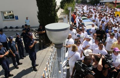 Cyprus state teachers march against reform in public schools, calling on education ministrer to resign