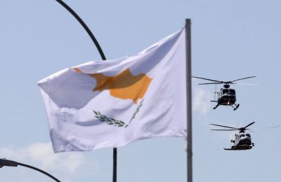 Greek Cypriots celebrated Independence Day in the Republic of Cyprus with a Monday military parade