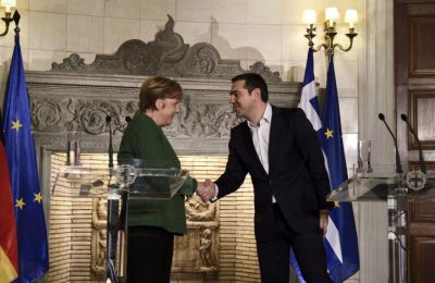 Greek PM and German Chancellor discuss the Cyprus problem