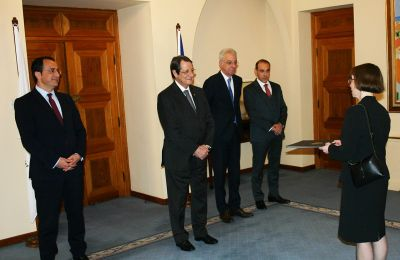 New US Ambassador to Cyprus presents credentials