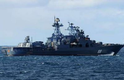 Russian Northern Fleet's anti-submarine Severomorsk stops by Limassol to stock up on supplies