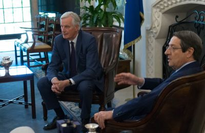Michel Barnier and President Anastasiades meeting on the 20th of May 2019