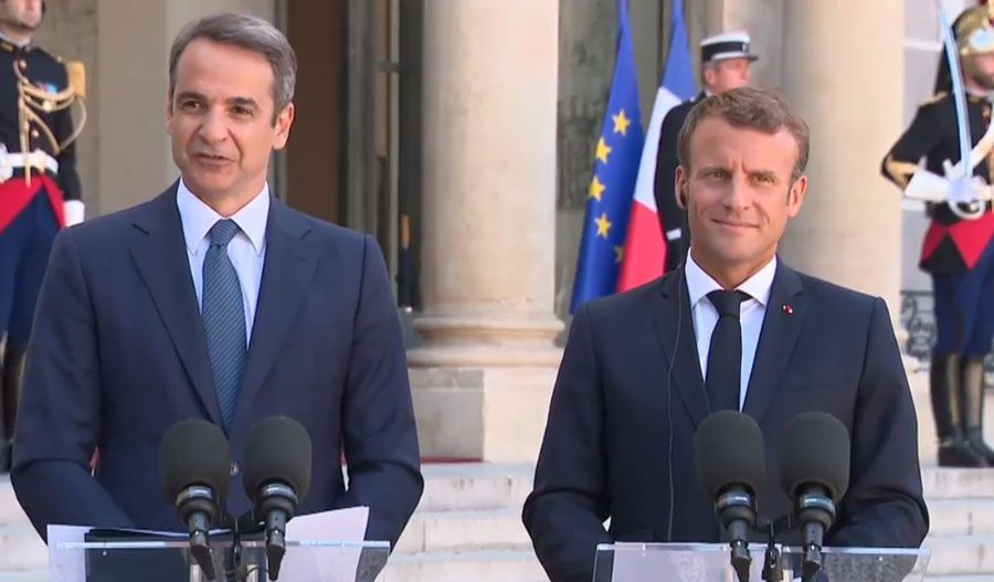 French president says France and EU will not show weakness in the Eastern Mediterranean