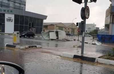 Sunday storms cause serious flooding and damages in Larnaca, Limassol, Paphos