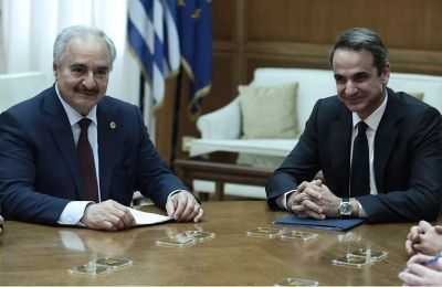 Greek prime minister urges Haftar during surprise visit to Athens to take constructive stance in Berlin