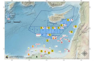 Cyprus EEZ and the area of the Eastern Mediterranean