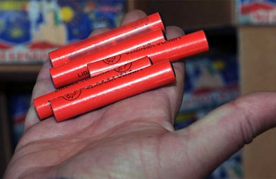Police say 9,980 confiscated mini tube bombs amounted to 30 kilos of powerful firecrackers