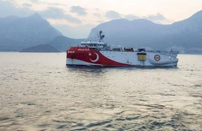 Greece welcomes news as ship tracker shows Oruc Reis survey vessel back near Turkey's southern shore