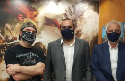 Swedish metallers Sabaton offer tips to Cyprus Post after operating fan merch facility in Limassol