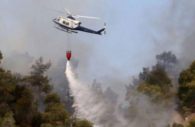 Macheras forest fire under control