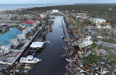 Video shows devastation after hurricane Michael