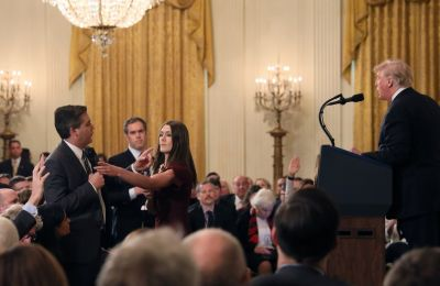 Watch video of Trump clashing with CNN's Jim Acosta