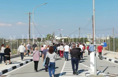 Lefka and Dherynia crossing points are now open