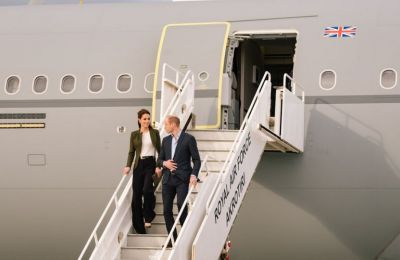 The royal couple touched down at RAF Akrotiri on Wednesday to greet troops and families serving overseas