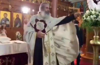 Video of wedding guest in Cyprus being yelled at by priest inside church goes viral