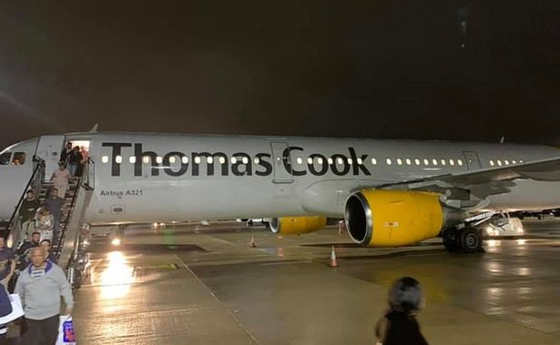 Thomas Cook flight out of Cyprus gets emotional 2