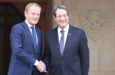 Outgoing European Council President Donald Tusk voices EU solidarity with Nicosia amid Turkish provocations