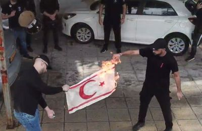 Turkish Cypriot and Turkish officials react to flag burning video, ELAM finds statements 'laughable'