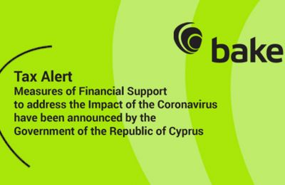 Measures of Financial Support to address the Impact of the Coronavirus have been announced by the Government of the Republic of Cyprus