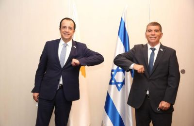 The Cyprus FM Nicos Christodoulides flew to Israel on Tuesday by helicopter
