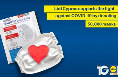LIDL CYPRUS SUPPORTS THE FIGHT AGAINST COVID-19 BY DONATING 50,000 MASKS