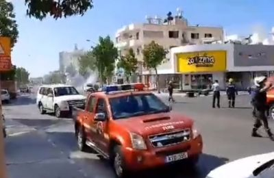 Official says no cause for concern after chemical disinfectants/pesticides inside moving vehicle explode in Limassol