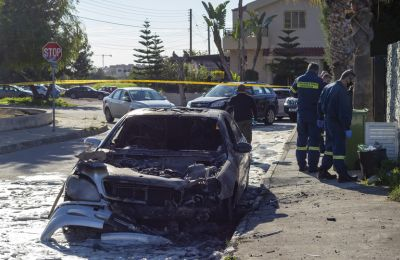 Police search for motives behind car explosion in Limassol outside lawyer's residence